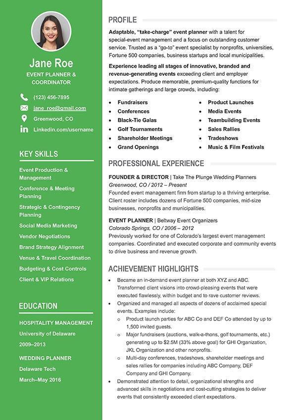 Free Word Resume Templates And Cover Letters